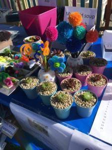 Spring Fair preschool craft table